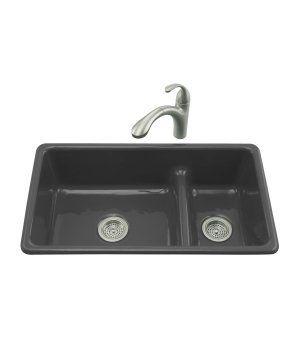 Kohler K 6625 With Images Cast Iron Kitchen Sinks Double