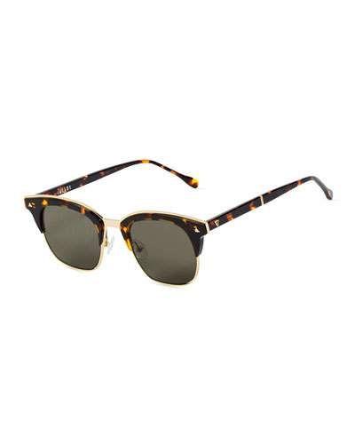 d38e36f32d58 Valley Eyewear Larynx Square Semi-Rimless Sunglasses