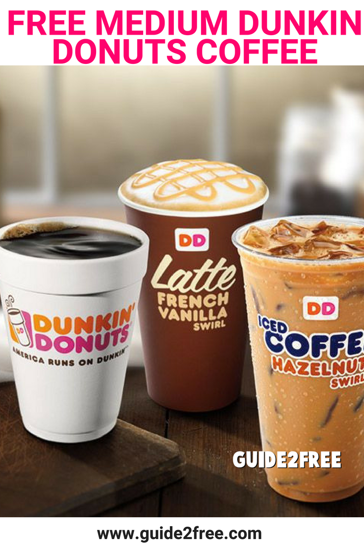 Free Medium Dunkin Donuts Coffee Dunkin Donuts Coffee Coupons