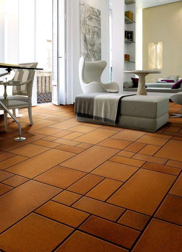 Inspiracion estilo moderno con suelos de barro clasic and chic living rooms pinterest - Pavimentos rusticos para interiores ...