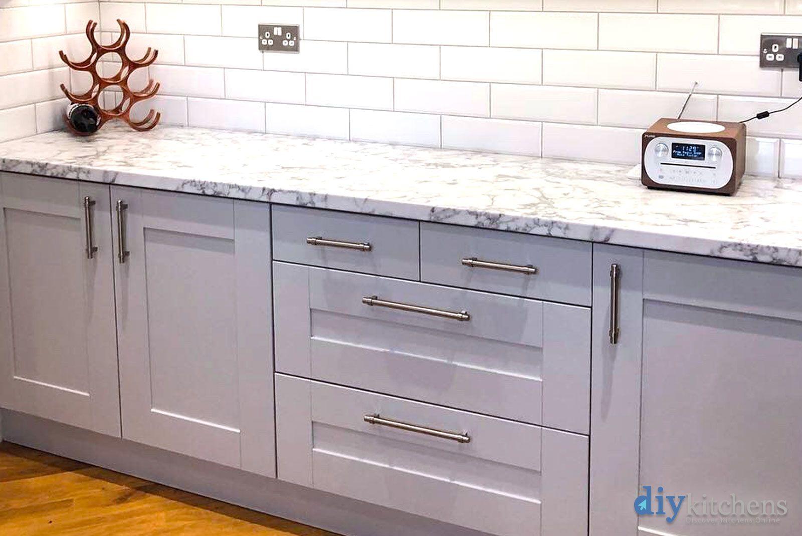 An Innova Clayton Dove Grey Shaker Kitchen Grey shaker