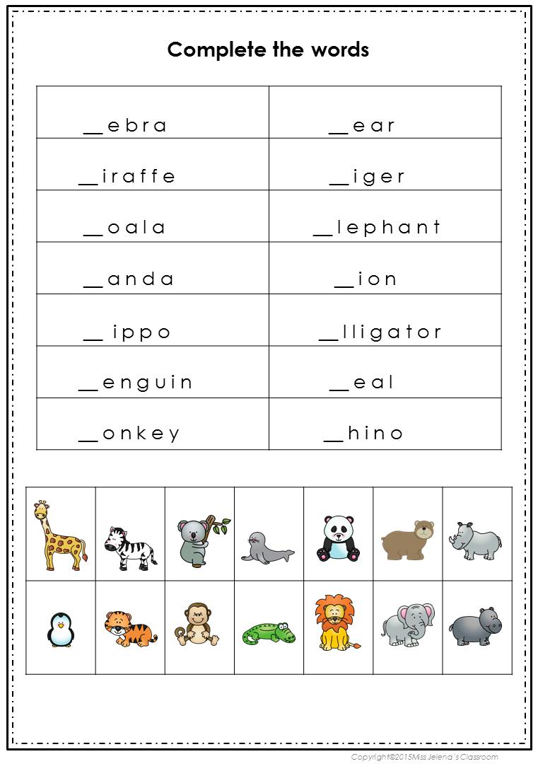 Zoo Animals Zoo Animals Fun Education Book Activities [ 1090 x 761 Pixel ]