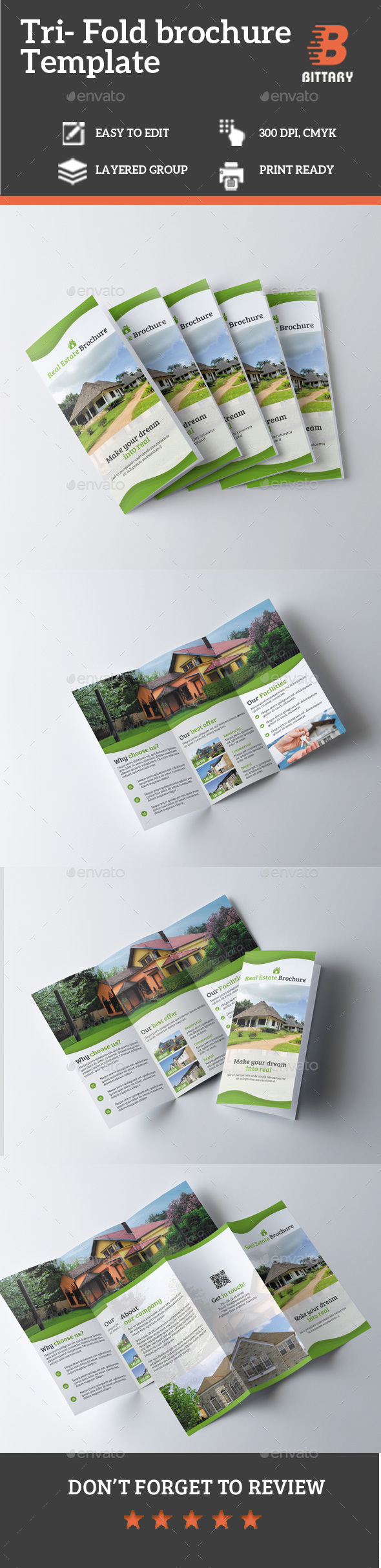 Real Estate TriFold Brochure  Tri Fold Brochure Tri Fold