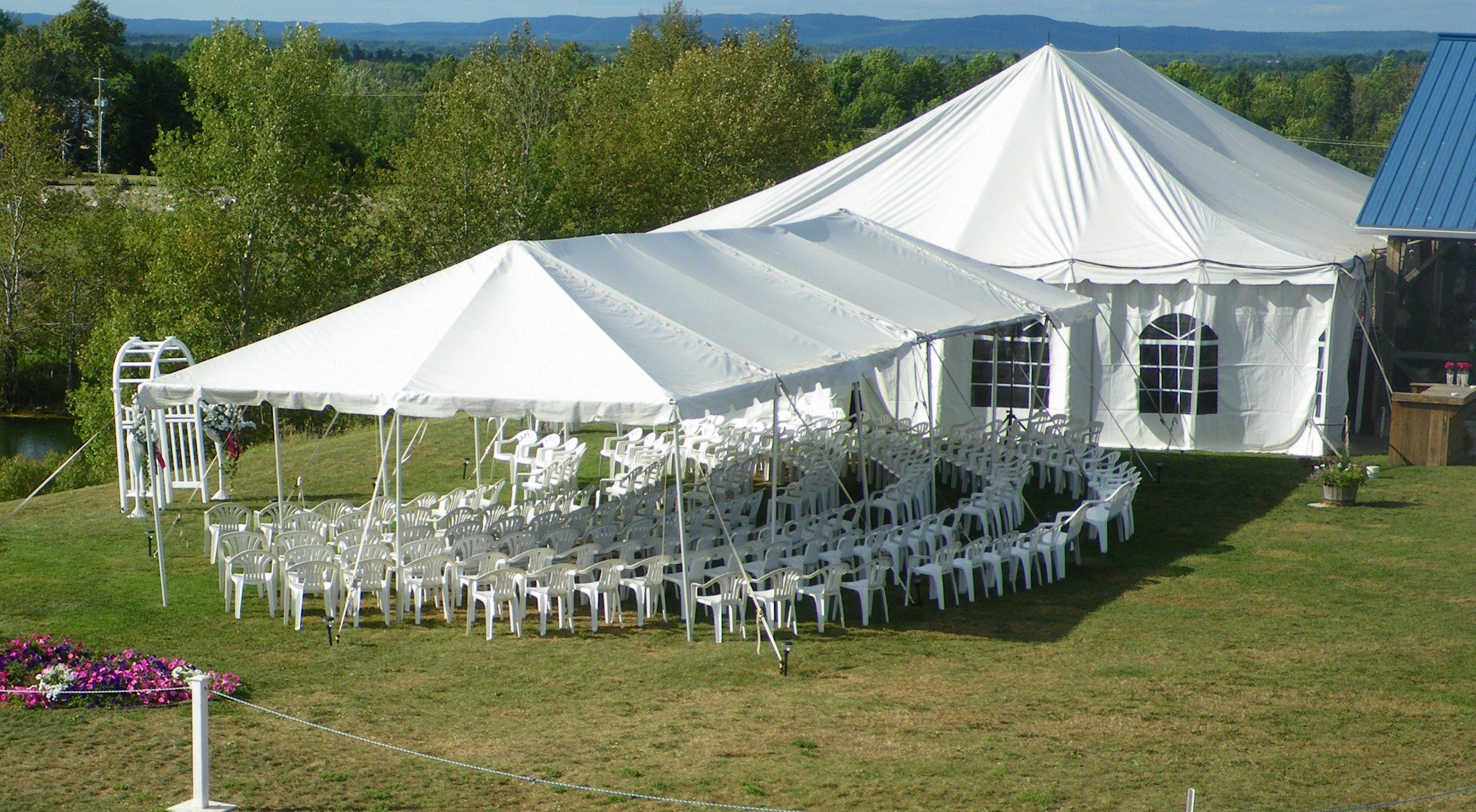 Huglis Has Beautiful White Garden Tents With Clear Windows For On Site Weddings At Blueberry Ranch In Pembroke