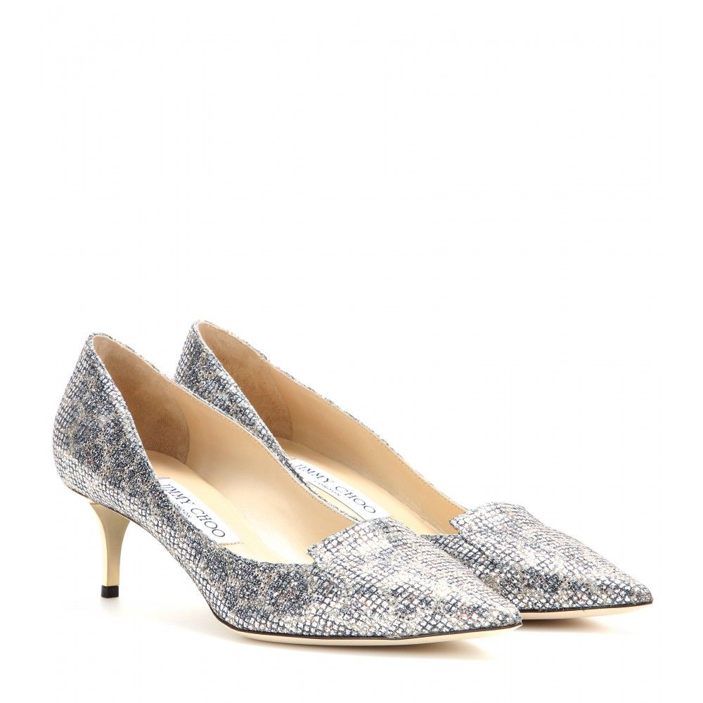 aa53147d6b5 Jimmy Choo - Allure glitter kitten-heel pumps - Party season calls for  pizzazz. These dazzling point-toe pumps from Jimmy Choo fit the bill  perfectly