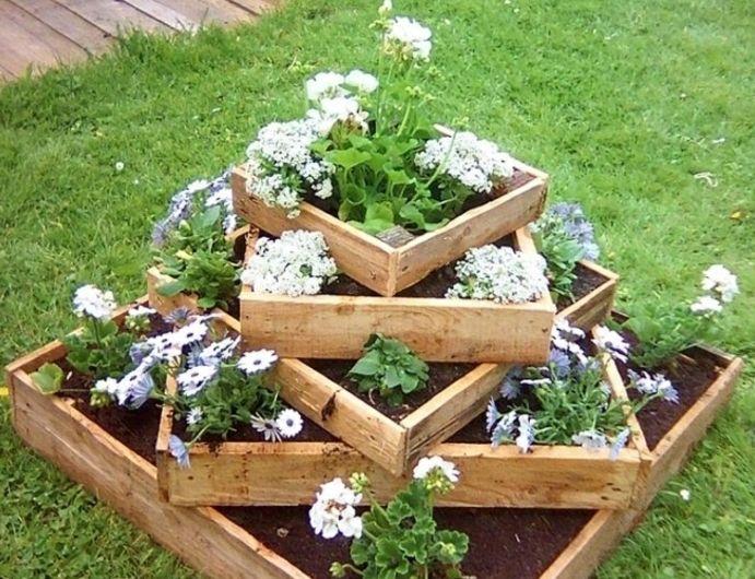 1001 tutoriels et id es pour fabriquer une jardini re en palette brico pinterest. Black Bedroom Furniture Sets. Home Design Ideas