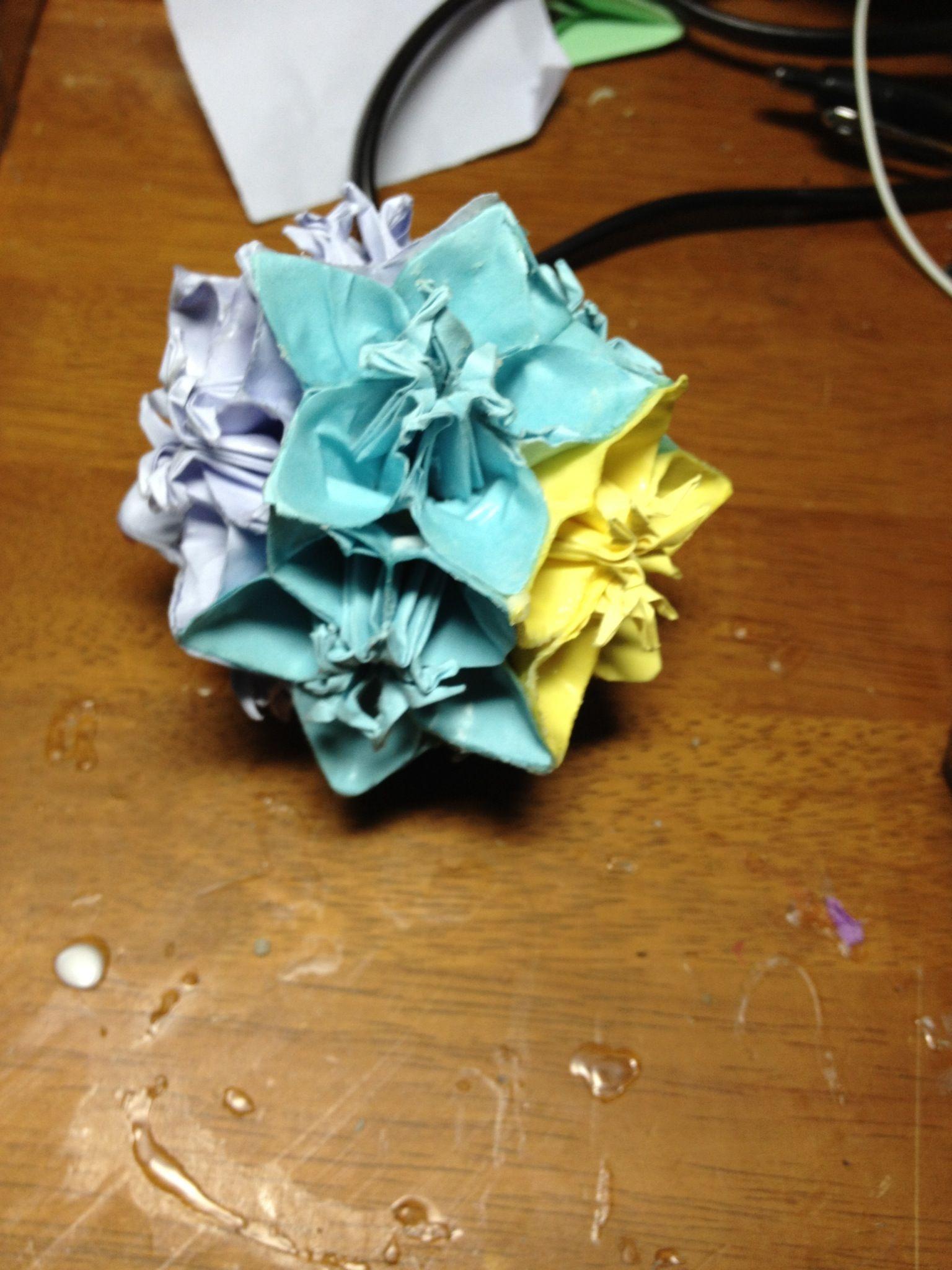 How To Make An Origami Kusudama Flower Ball Recipe Flower Ball
