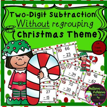 2 digit subtraction no regrouping christmas teachers pay teachers first grade lessons. Black Bedroom Furniture Sets. Home Design Ideas