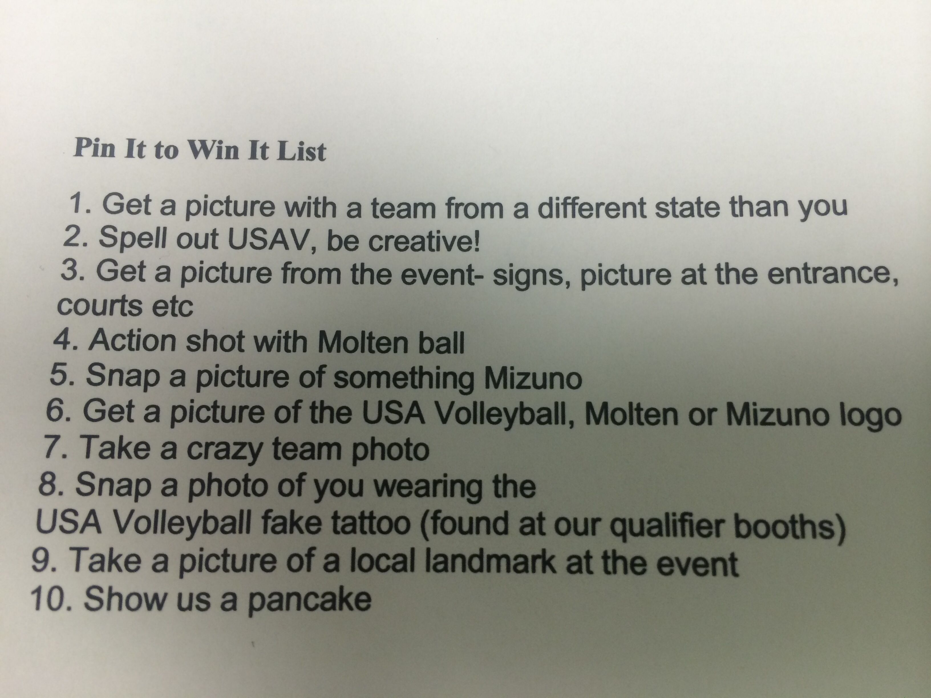 Usav Pin It To Win It List 1 10 Usa Volleyball Event Sign Proud Mom