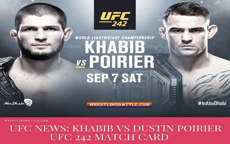 """UFC 242 Poster Khabib VS Poirier MMA Fight Event New Print 24x36/"""" 27x40/"""" 32x48/"""""""