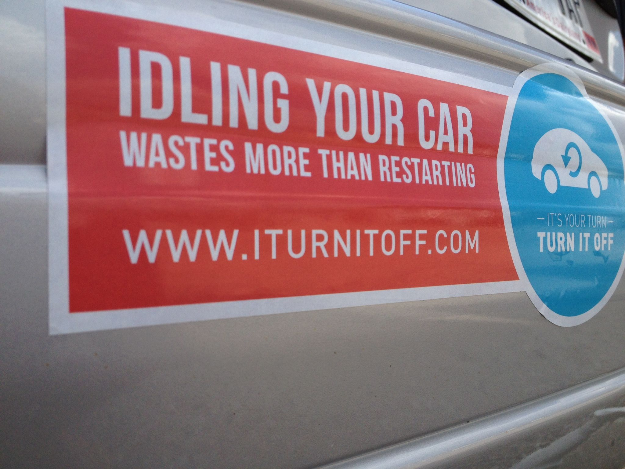 Pledge to stop idling your car save money on gas get a