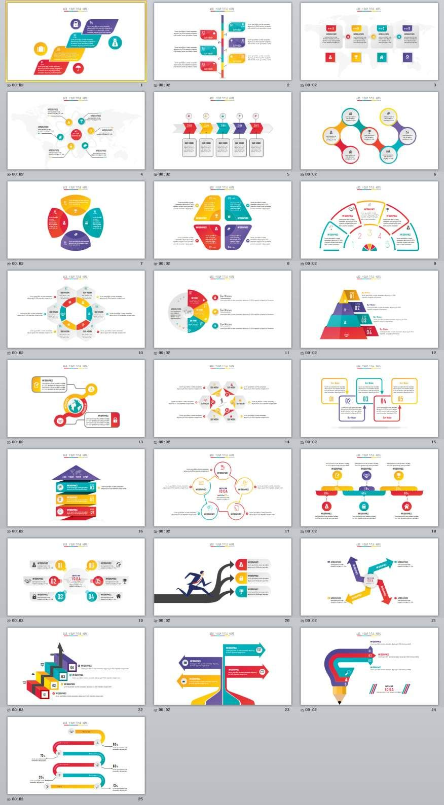 25 creative charts powerpoint template others pinterest