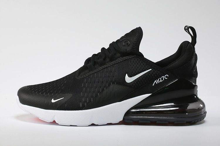 Men's/Women's UK Nike Air Max 270 Flyknit Shoes Black/White ...