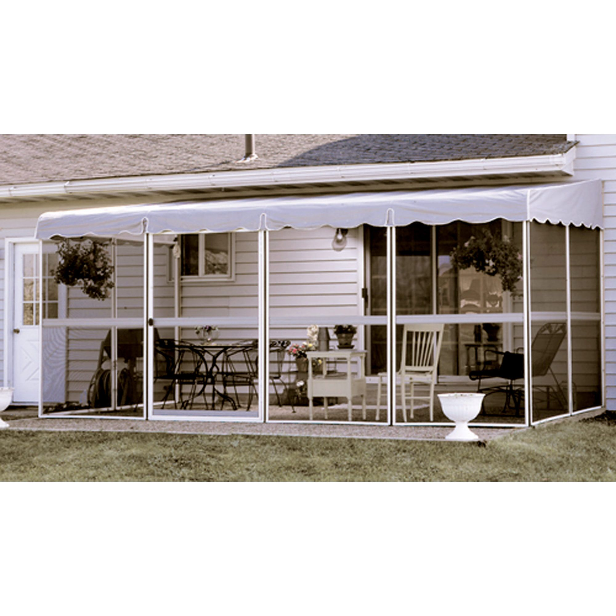 "Patio Mate White 17 1""l x 8 6""w Screened Enclosure BJs Wholesale"