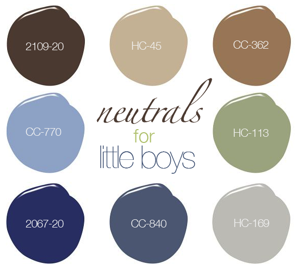 A neutral palette for boys bedrooms neutral tones boys Colors for toddler boy room