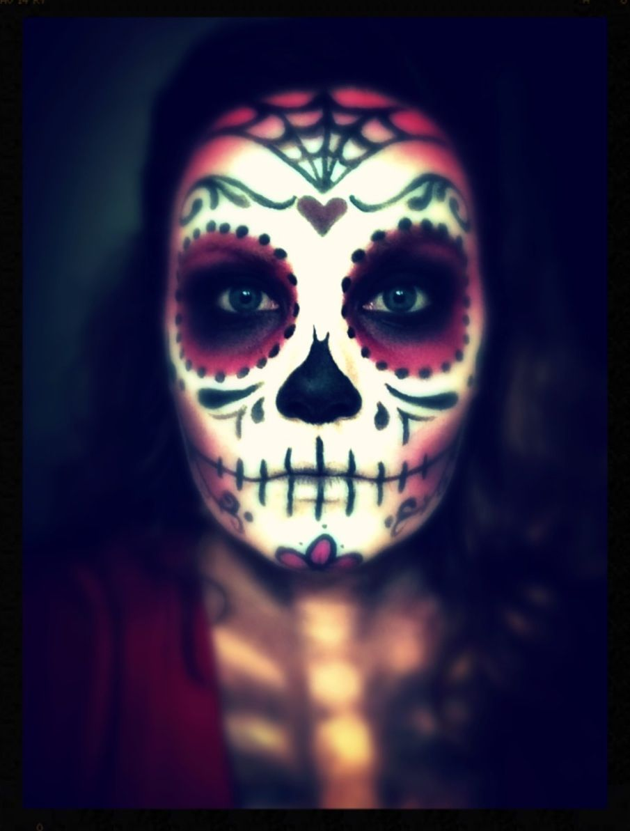 Halloween makeup- Sugar Skull makeup for Monster Con 2013. #halloween #makeup Halloween Makeup #halloween #makeup