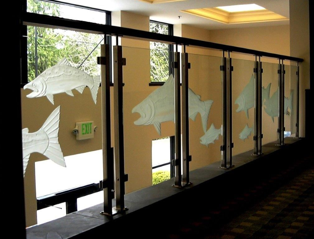 Best Custom Clearview® Etched Glass Railing System Glass 400 x 300