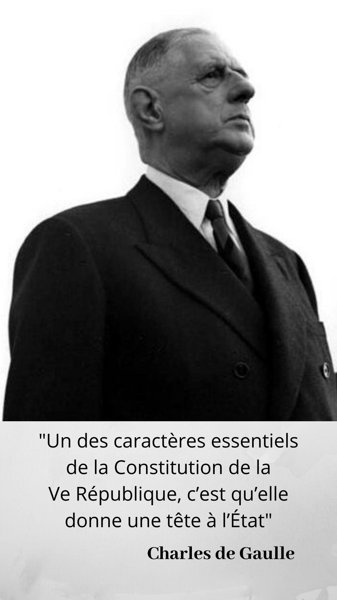 Le Qui A Dit Du Jour Il Est Tres Bien Place Pour Le Dire Citation De Gaulle Gaulle Republique