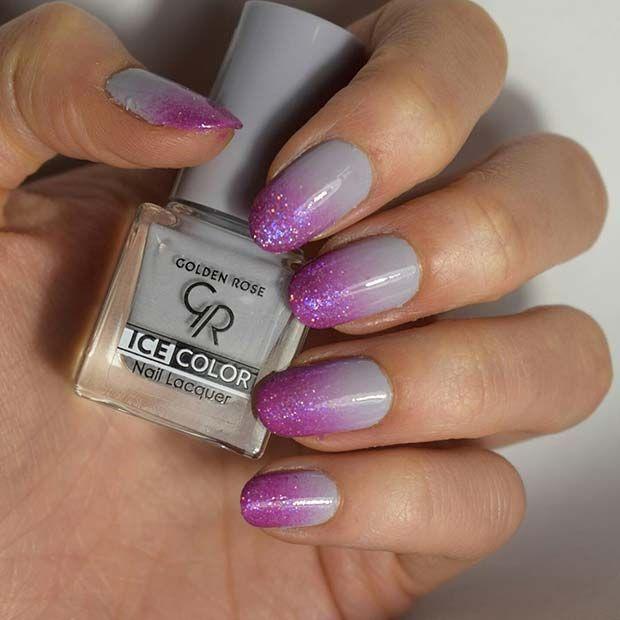 Ombre Nail Art For Elegant Nail Designs For Short Nails Nudenails5
