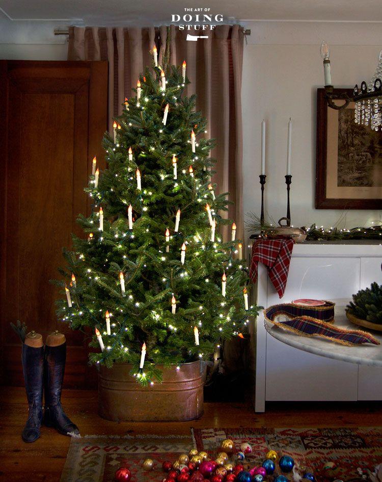 Diy Flameless Christmas Tree Candles So Beautiful Christmas Tree Candles Antique Christmas Tree Diy Christmas Tree