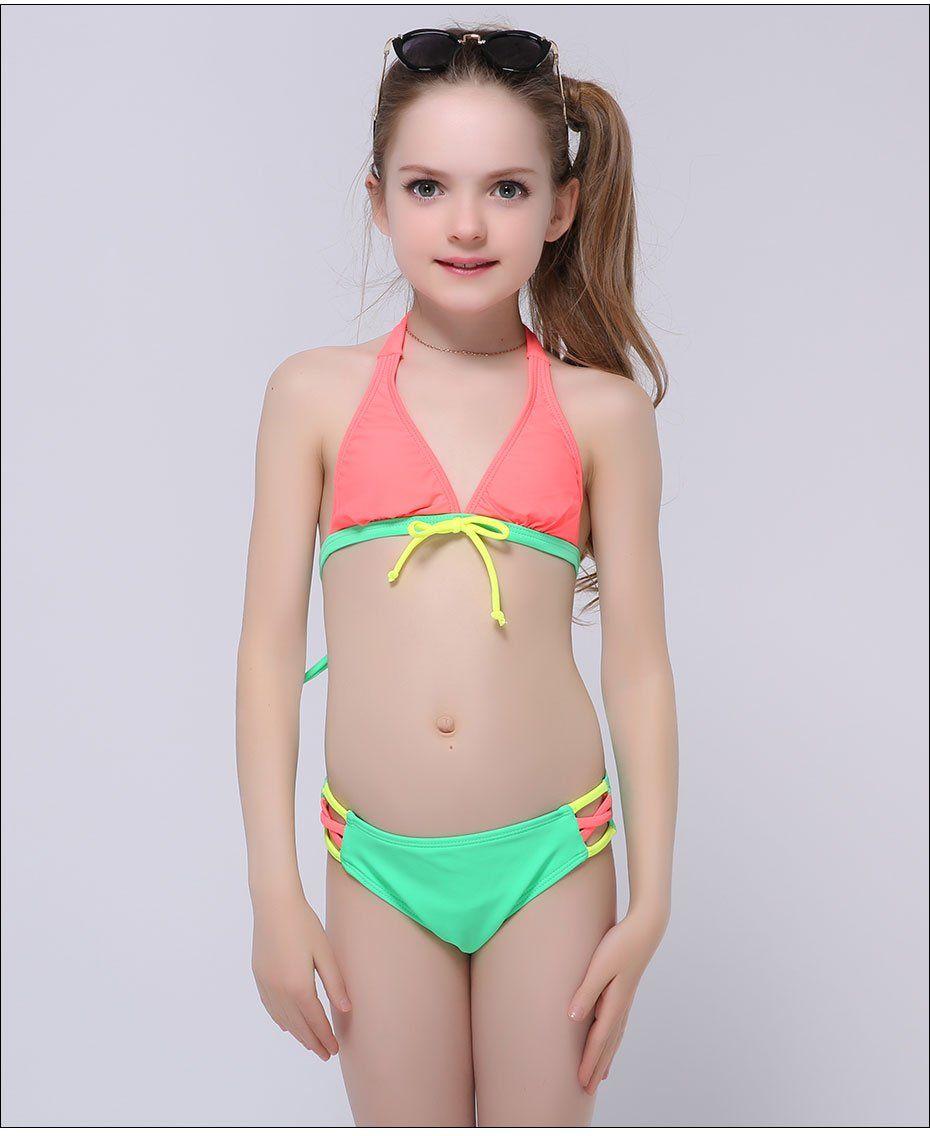 41d086894a483 Andzhelika Girls Bikini Cute Bow Two-Piece Suits Children Big Bottom K –  FuzWeb