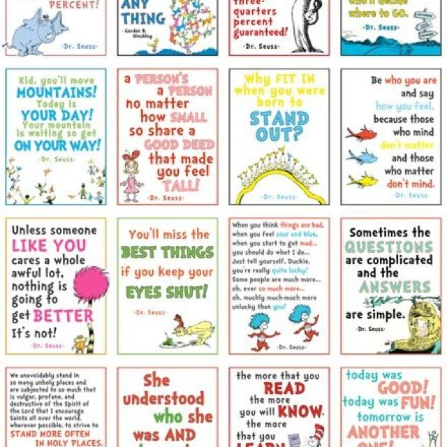 Suess quotes for playroom wall