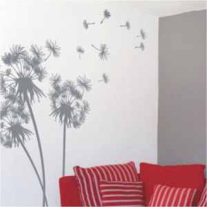 Large Dandelions   Wall Sticker. Decorative ...