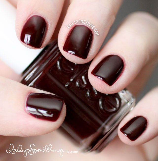Dark Red Nail Polish: 65 Fall Acrylic Nails Colors Art Designs