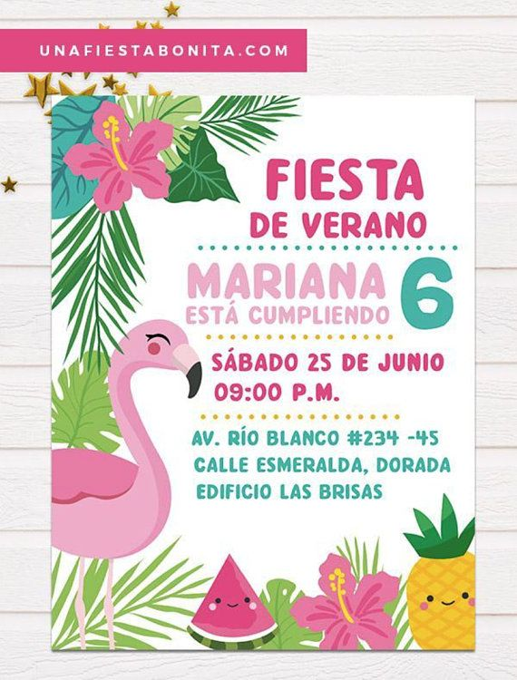 Tropical Flamenco And Pineapple Summer Invitation Pineapple