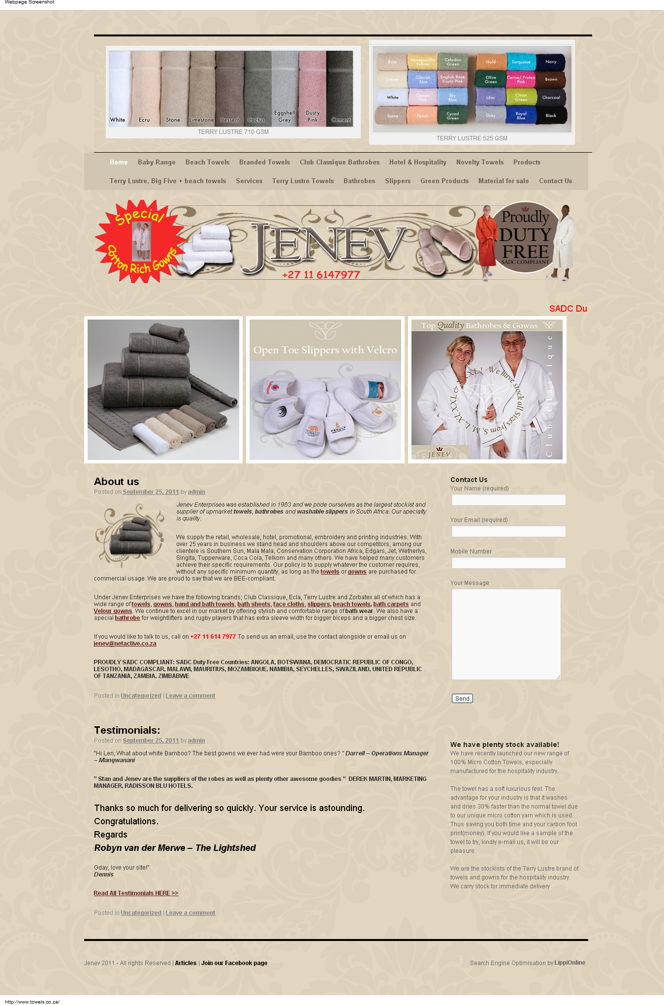 Towels.co.za is a leading manufacturer of bathroom accessories ...