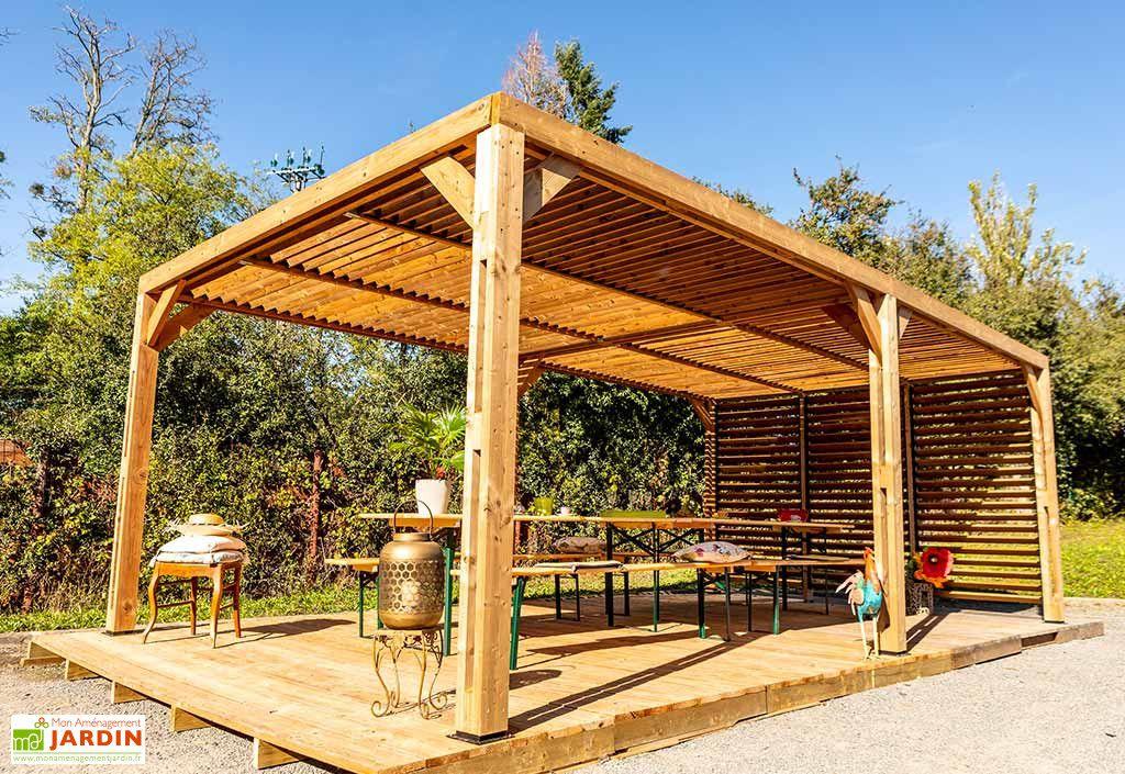 Pergola Bois D Epicea Traite Couverture Paroi Ventelles Mobiles 20 M En 2020 Pergola Bois Pergola Pergola Design