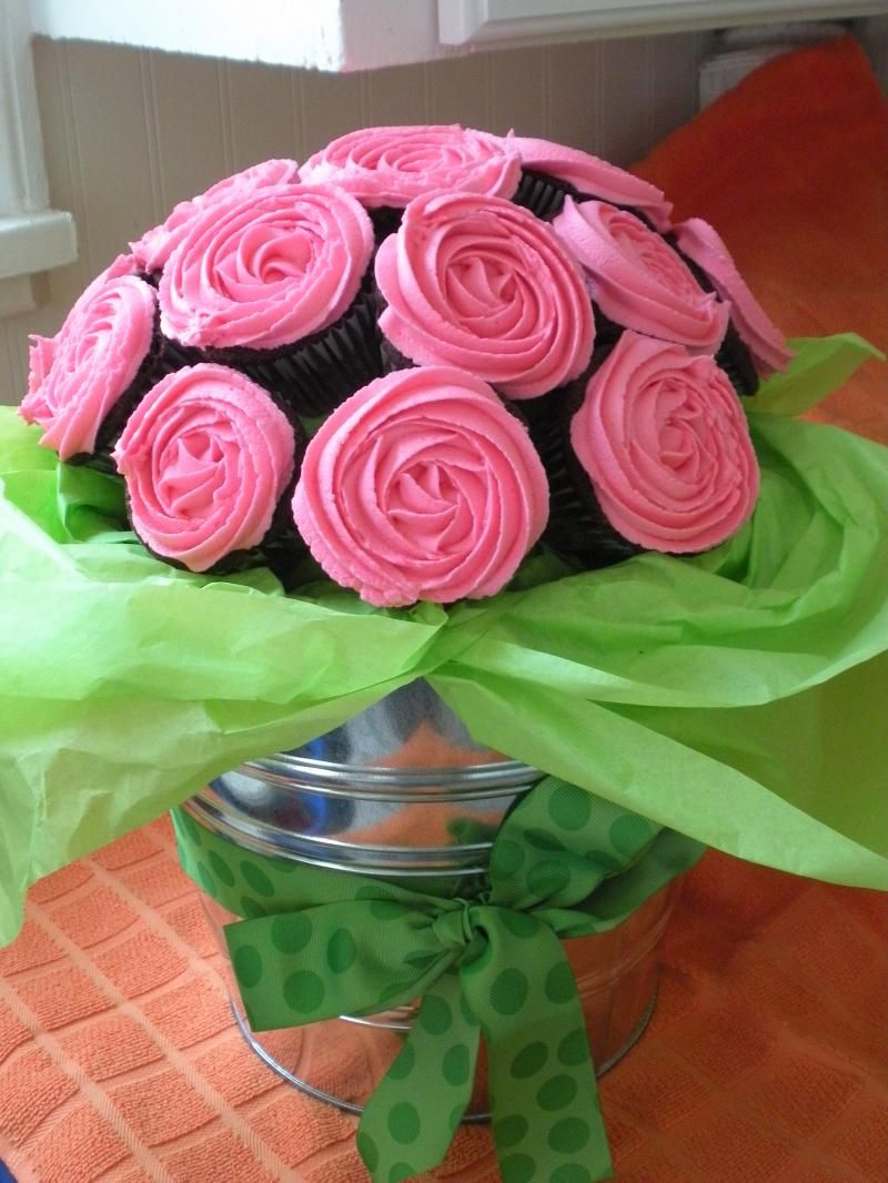 Valentines Day Cupcake Bouquets Party Foods Pinterest
