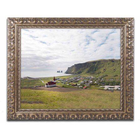 Trademark Fine Art 'Vik' Canvas Art by Philippe Sainte-Laudy, Gold Ornate Frame, Size: 16 x 20, Multicolor