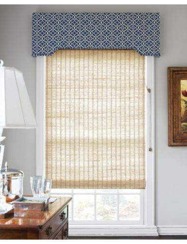 Cameron Upholstered Cornice In 9884 Labyrinth Harbor