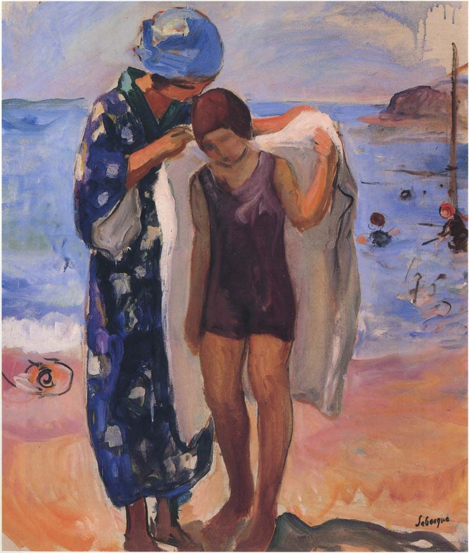 The Athenaeum - By the Beach (Henri Lebasque - )