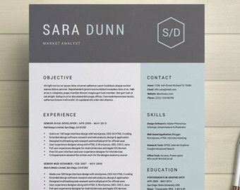 Creative Resume Template Modern Cv Template By Simplecleanresume