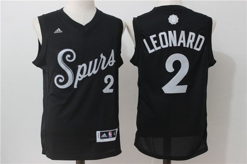 NBA San Antonio Spurs 2 Kawhi Leonard Black 2016 2017 Christmas Xmas Day  Basketball Jersey San 71eea01ff