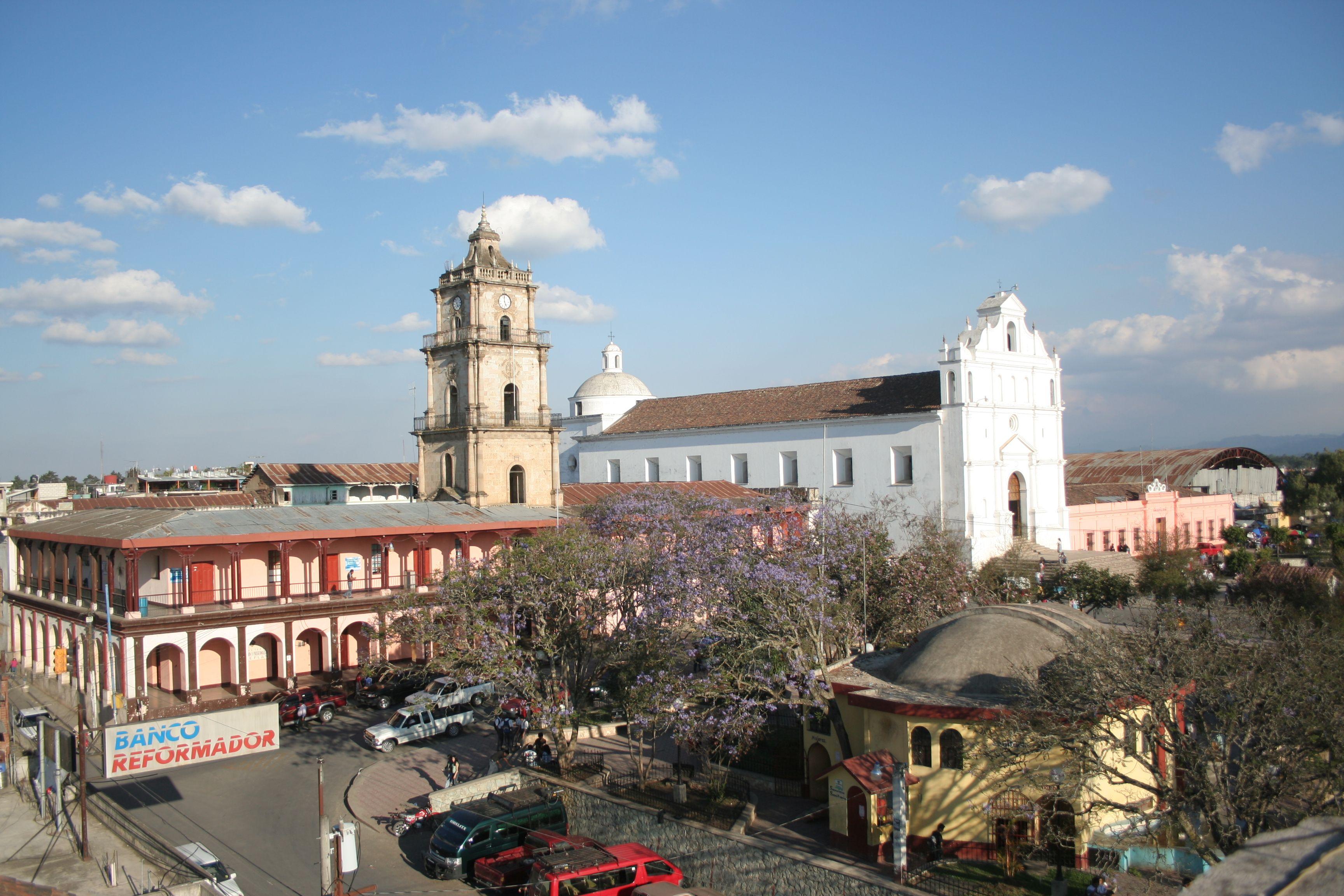 Santa Cruz del Quiché, en el altiplano.
