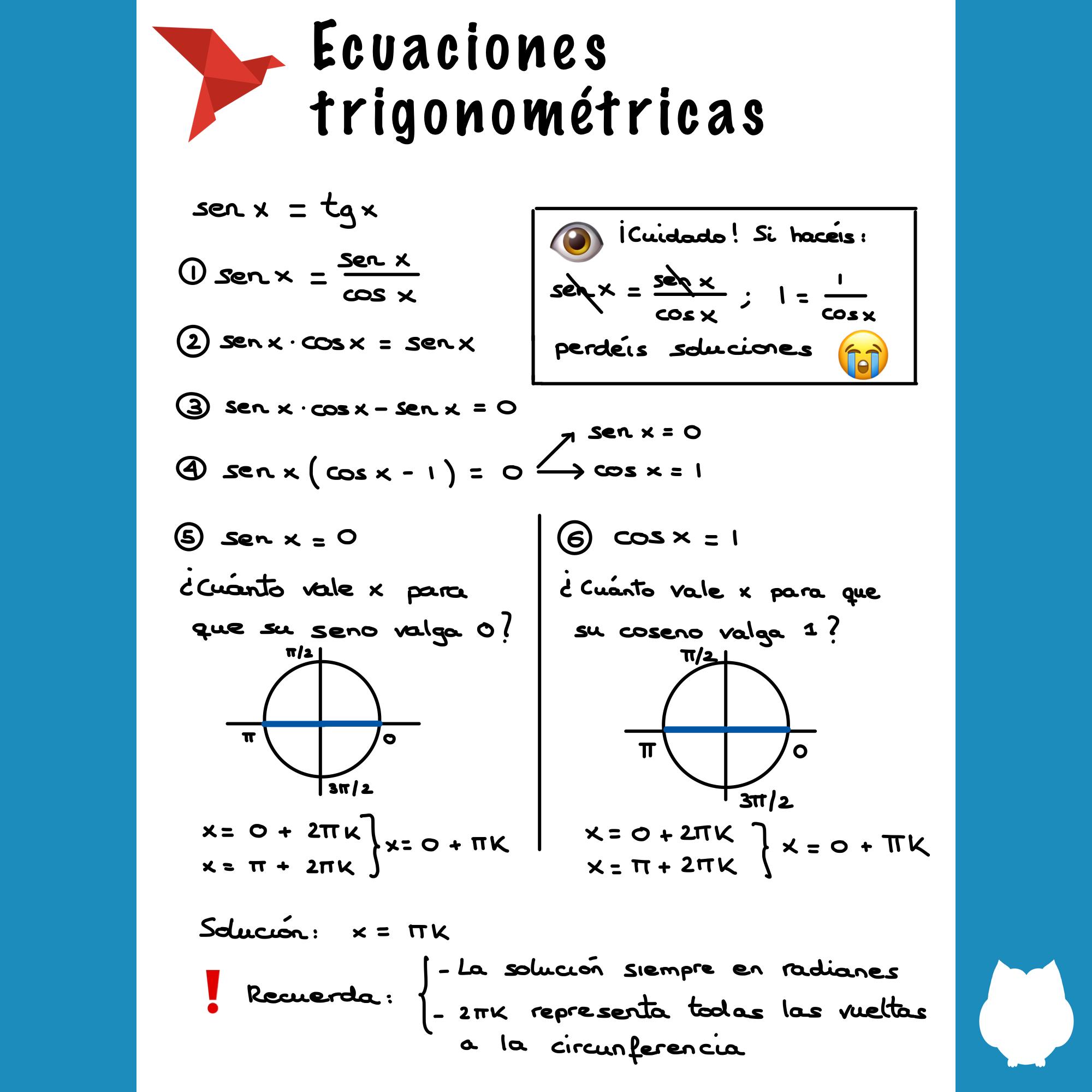Ecuaciones Trigonométricas Blog De Matematicas Secundaria Matematicas Matemáticas Bachillerato