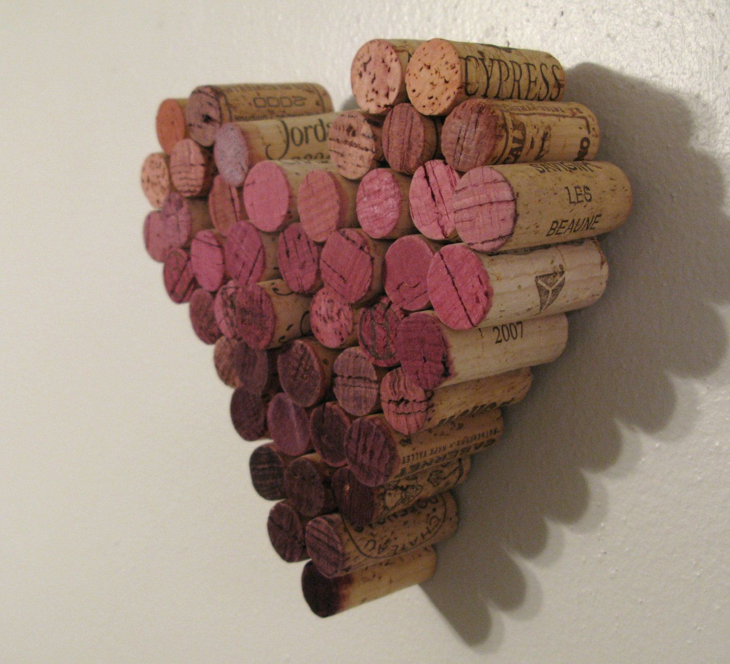 Wine Cork Heart Ombre Wall Hanging Decor Wine Corks Decor Wine Cork Wall Decor Hanging Wall Decor
