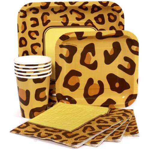 Cheetah Leopard Print Party Supplies Napkins Plates Cups | eBay ...