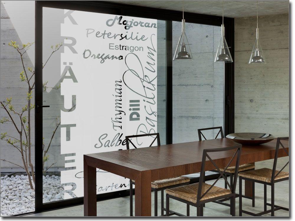 Galsdekorfolie Küchenkräuter Fensterfolie für Küche Pinterest - folie für küchenfront