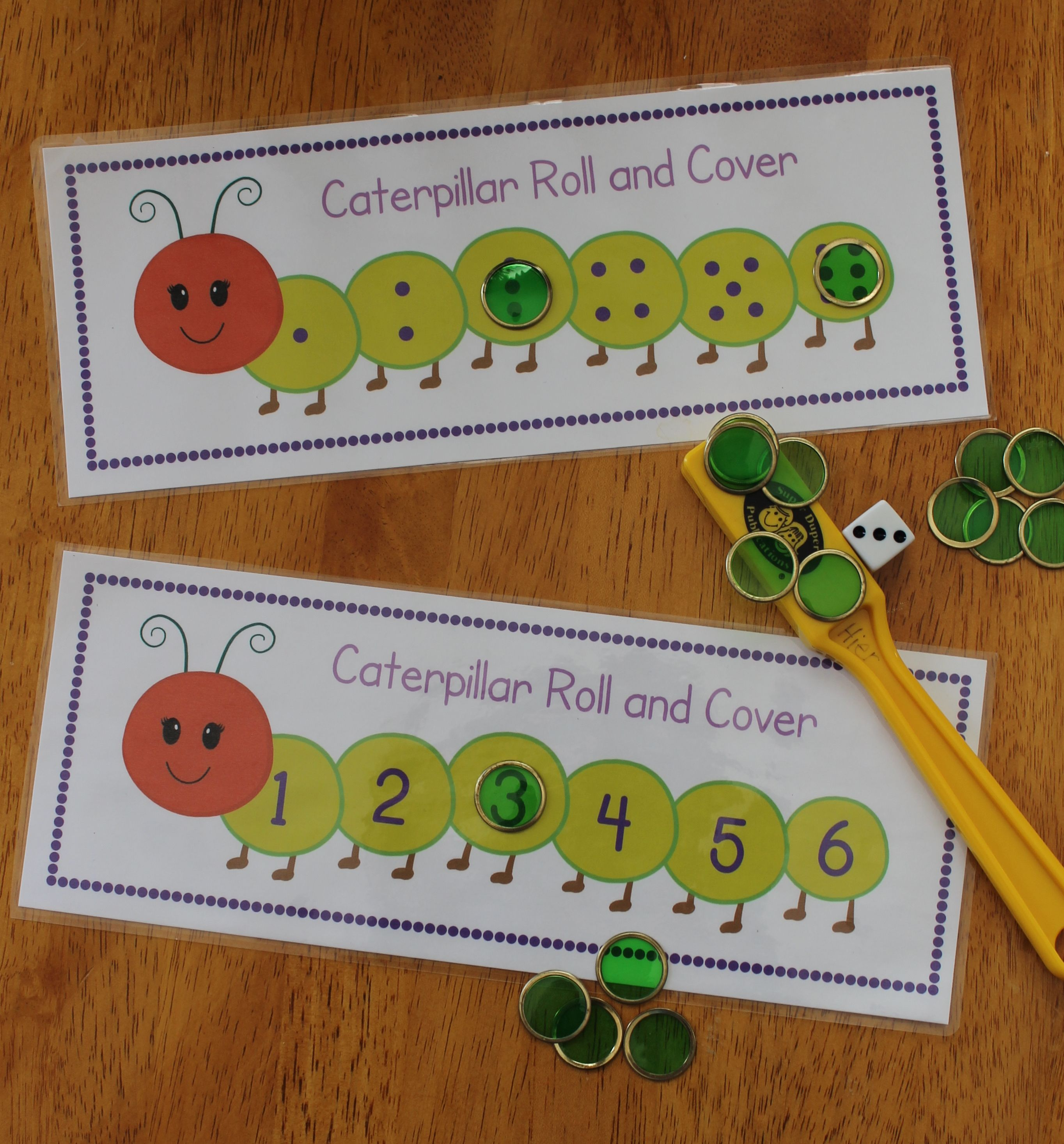 Caterpillar Roll And Cover Differentiated Math Activity
