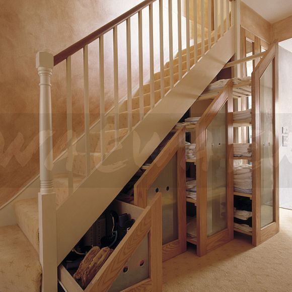 Image retractable understairs storage drawers with opaque for Under stairs drawers plans