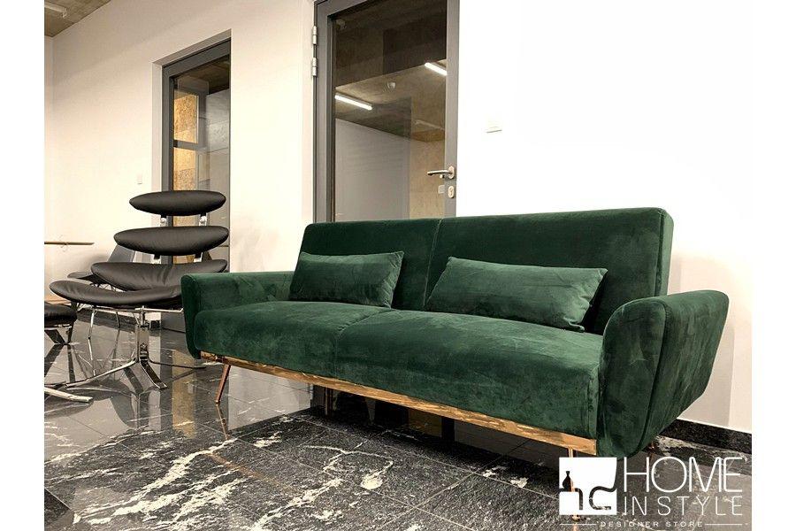 Sofa Milano 3 Osobowa Z Funkcja Spania Velvet Ciemna Zielen Home Decor Furniture Love Seat