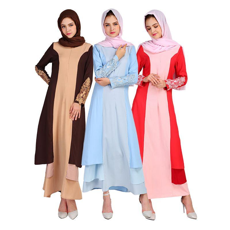 8f94244f50536 Women Islamic Abaya Dresses Arab Ladies Caftan Kaftan Malaysia ...