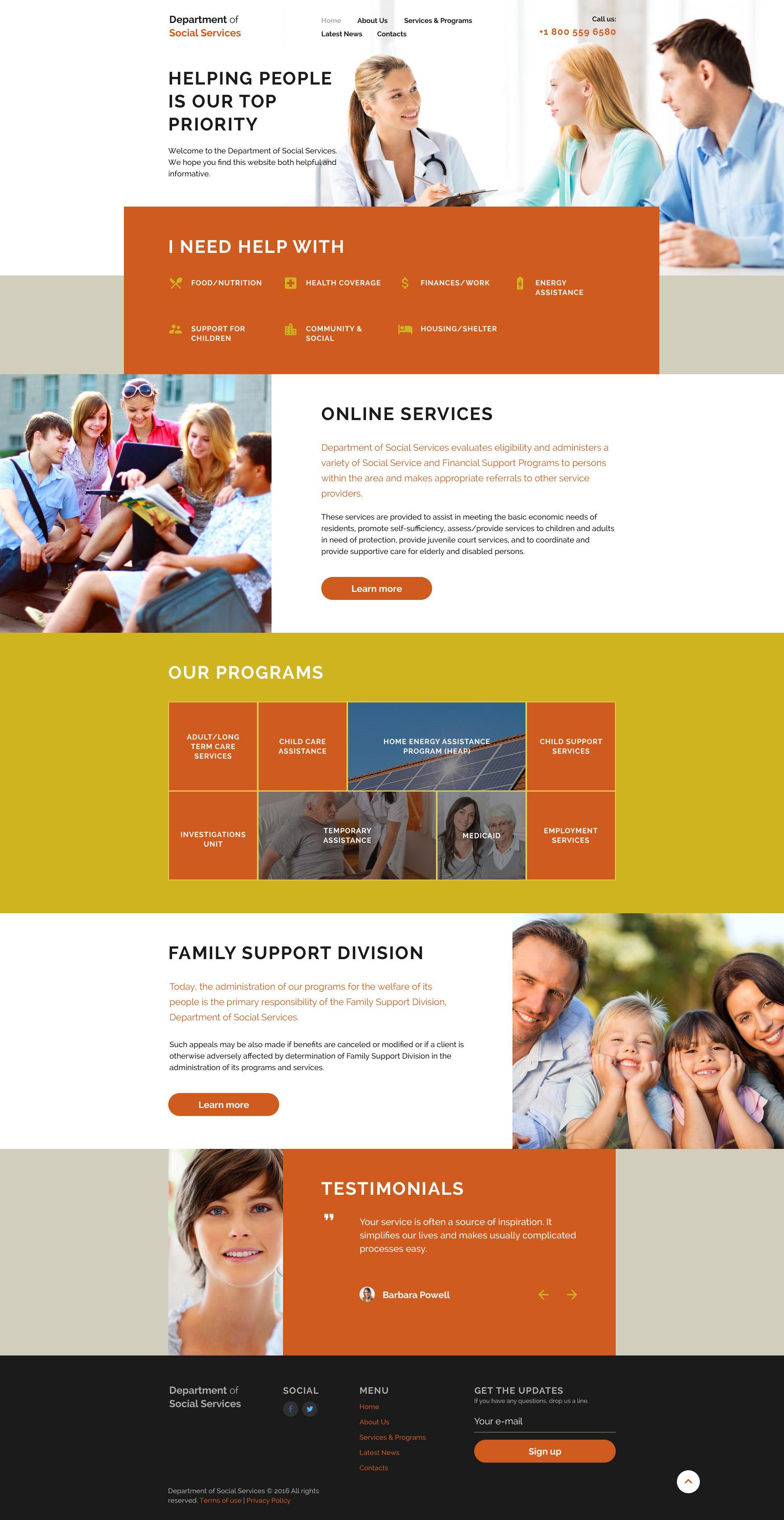 Adult design services site web