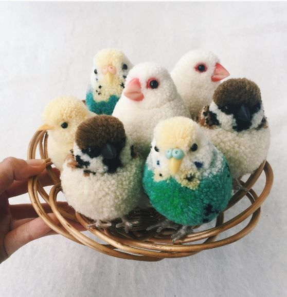 look at these amazing animal pom poms top crochet pattern blog the whole cute things. Black Bedroom Furniture Sets. Home Design Ideas