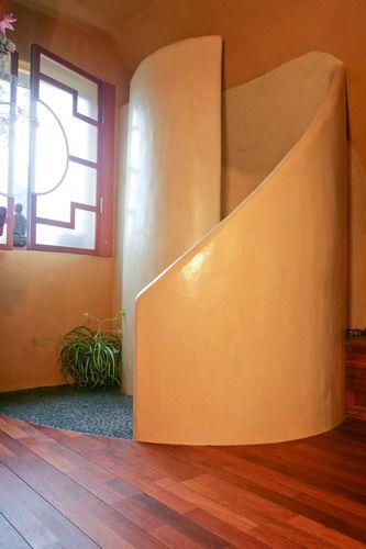 Uberlegen Rundgemauerte Duschschnecke, Ausführung In Tadelakt, Dusche Aus  Wasserfestem Putz
