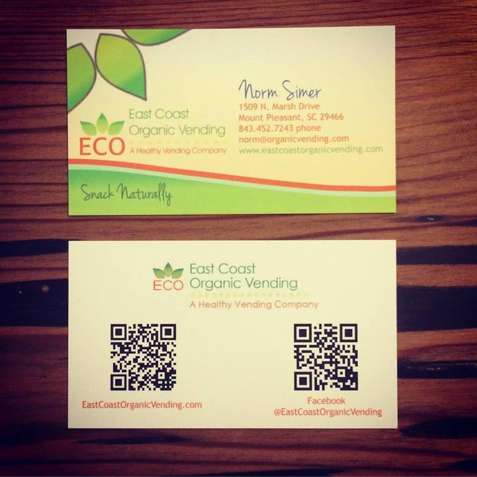 East Coast Organic Vending Business Cards with QR Code | Kuszmaul ...
